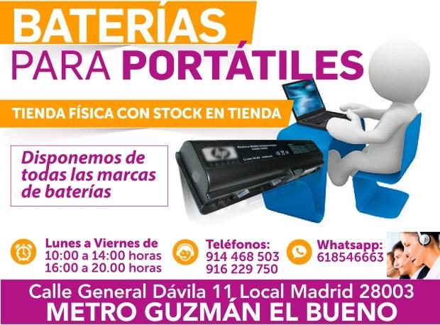 618546663 baterias nuevas para portatiles al instante