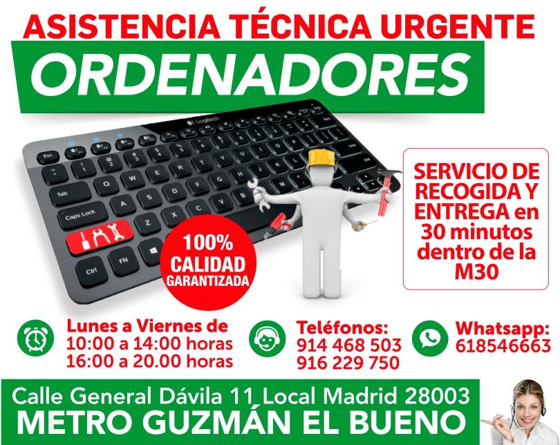 618546663 servicio de urgencia en ordenadores