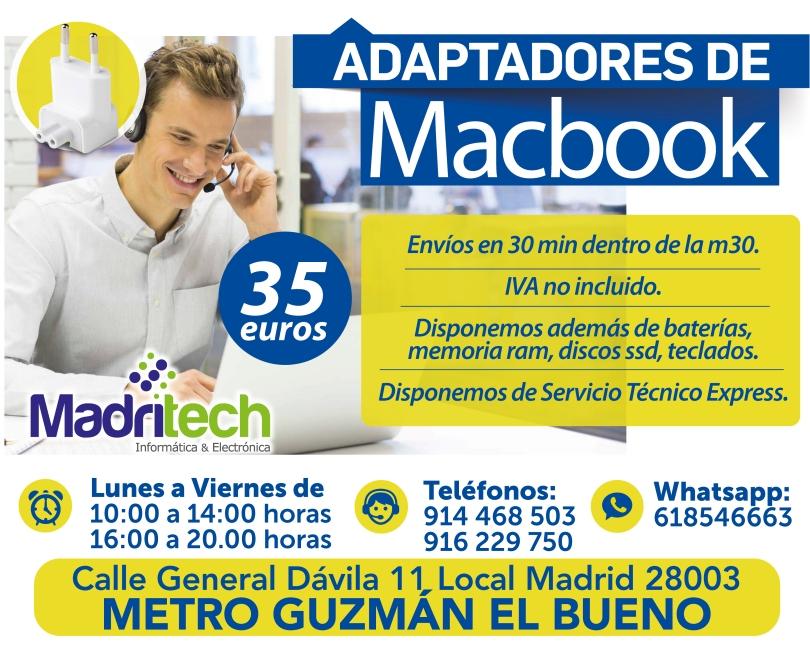 adaptadores de macbook en guzman el bueno