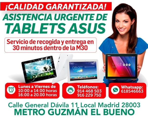 asistencia urgente de tablets asus