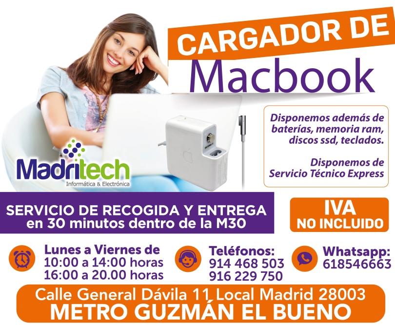 cargador de macbook en madritech