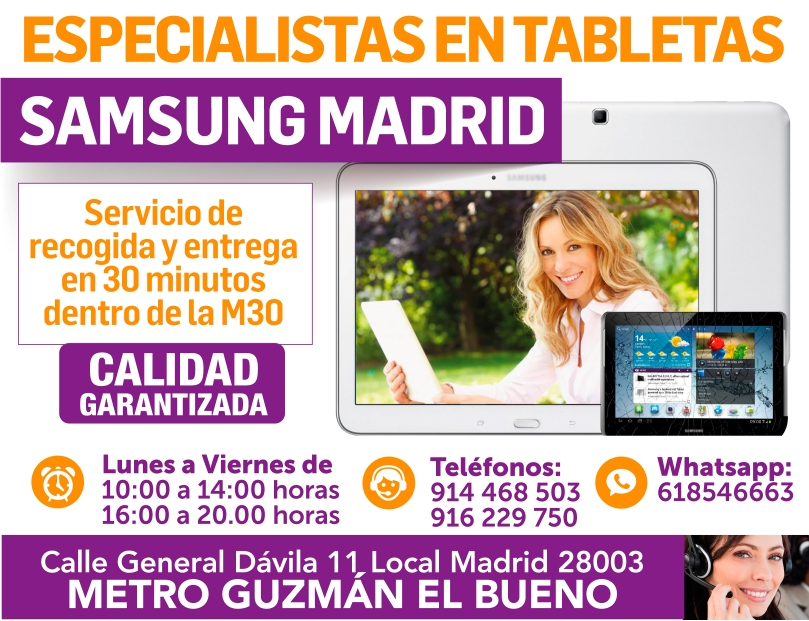 especialistas en tabletas samsung madrid