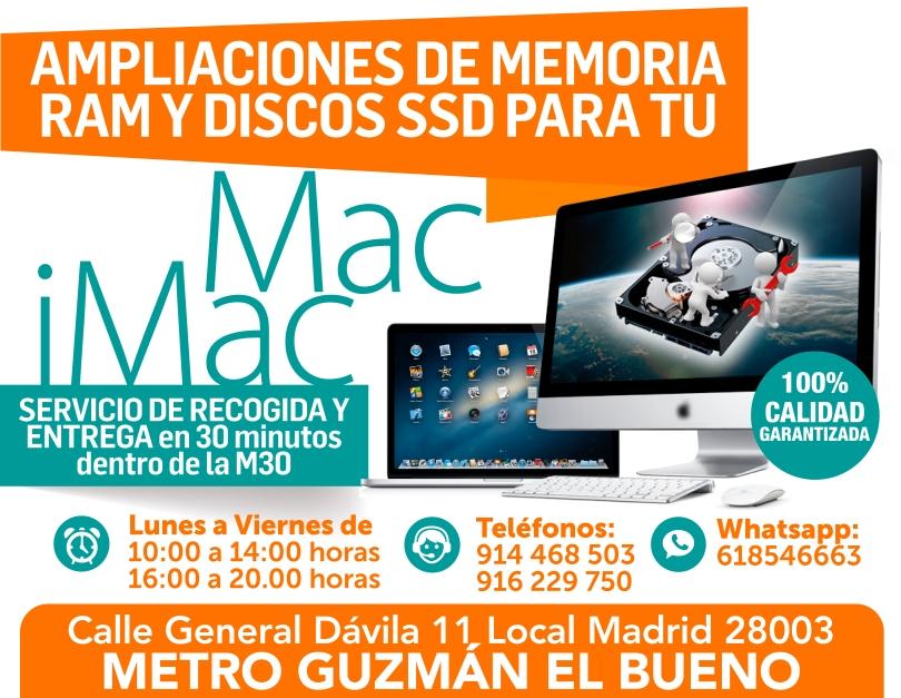 Local Madrid 28003 tecnologia mac imac