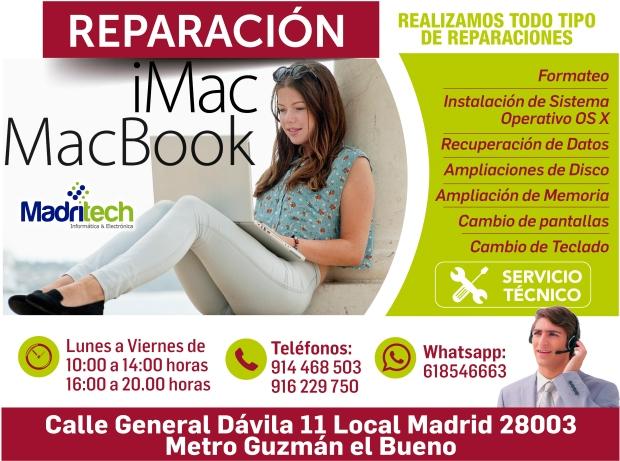 reparacion arreglo de macbook