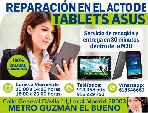 reparacion en el acto de tablets asus