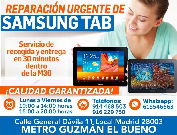 reparacion urgente de samsung tab