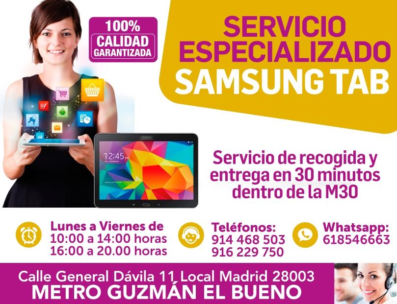 servicio especializado samsung tab