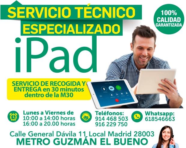 servicio tecnico especializado ipad