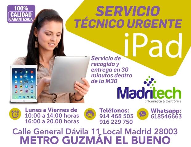 servicio tecnico urgente ipad en madrid