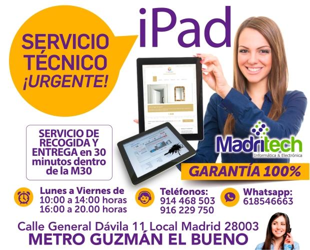 servicio tecnico urgente ipad