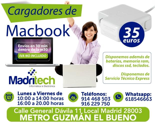 venta cargadores macbook