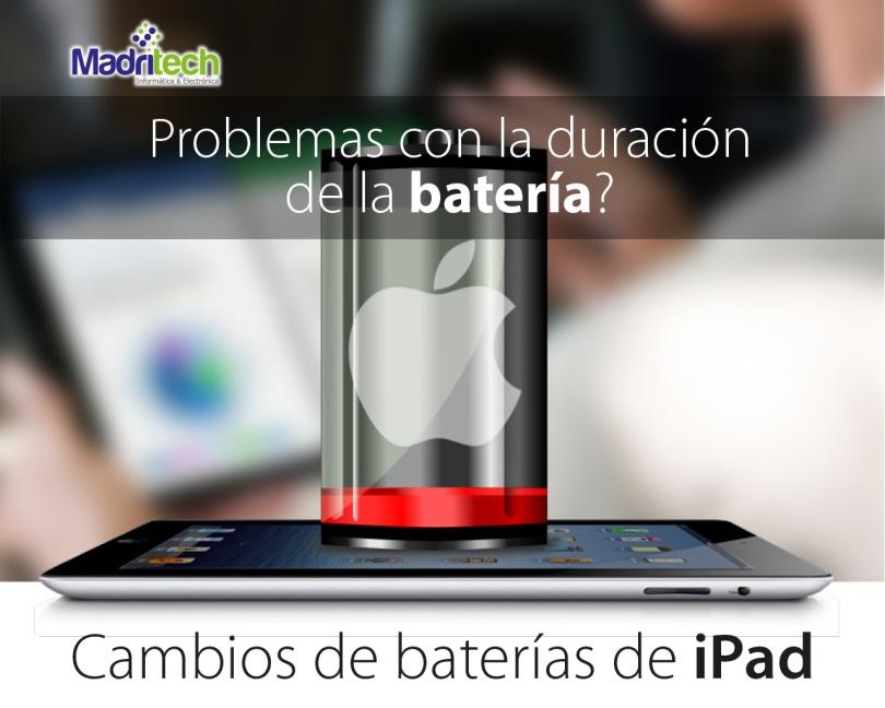 cambio de bateria de ipad